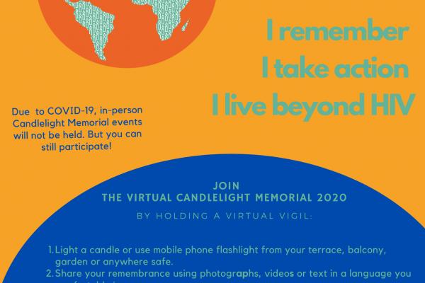 no AIDS mirušo piemiņai 2020